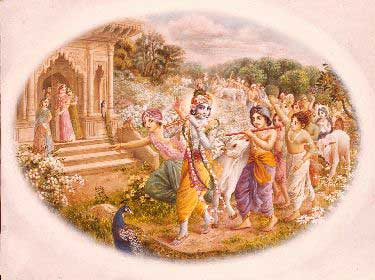 Sri Krsna and the Cowheard boys