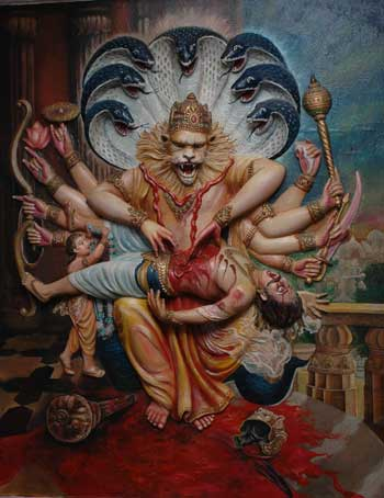 (Painting of Sri Nrsimha!)