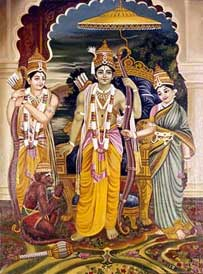 Sita Rama and Hanuman