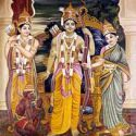 Sri Ramachandra, Sita devi, Laxman and Hanuman